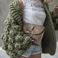 Chic <b>Coarse Crochet Cardigan 3D</b> Floral Hook Sweater Hand ...