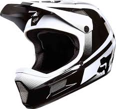 Fox Rampage Comp Imperial Downhill Helmet Black White