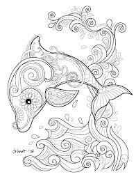 Free Printable Dolphins Coloring Pages Dolphin Mermaid And Page S