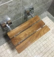 wall mounted shower bench 3 4 modern teak folding shower seat bench chrome wall mount wall