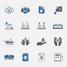 Two Tone Icons Two Tone Oil Icons Set Royalty Free Cliparts Vectors And Stock