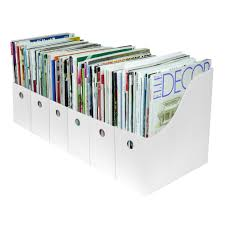 Binder Magazine Holders Evelots Set of 100 Magazine File Holder Organizer Boxes W Labels 94