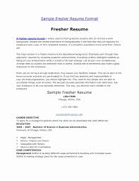 Mba Sample Resume For Freshers Finance Elegant 56 Lovely Pics Resume
