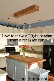 recessed lighting to pendant. How To Create A 3 Pendant Light Fixture From Recessed Light, Home Decor, Lighting