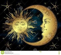 античной солнце искусства стиля нарисованное рукой золотое