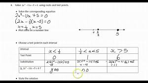 solving quadratic inequalities in one variable