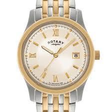rotary men s two tone champagne watch gb00793 09 rotary watches rotary men s two tone champagne watch gb00793 09