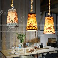 creative personality retro loft bar restaurant pendant lights modern resin