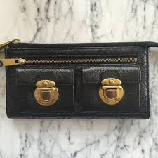 Marc Jacobs - Marc Jacobs Black Quilted Leather Wallet Clutch from ... & Marc Jacobs Black Quilted Leather Wallet Clutch Adamdwight.com