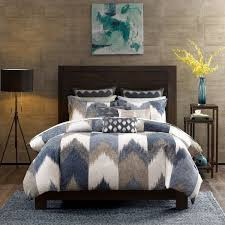 ink ivy alpine duvet cover king cal king size navy taupe ivory pieced chevron duvet cover set 3 piece 100 cotton light weight bed comforter covers