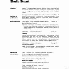 Early Childhood Education Resume Samples Child Developm On Early
