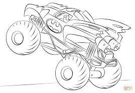 Small Picture Batman Monster Truck coloring page Free Printable Coloring Pages