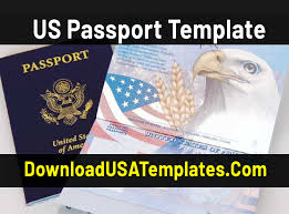 Us Passport Template Psd Us Passport Template Download Fake Editable Psd File