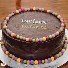 Happy Birthday Cakes With Name Edit Freshbirthdaycaketk