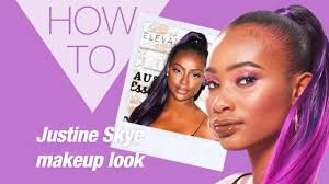 model with justine skye makeup