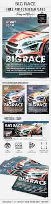 Car Flyers Big Race Free Flyer PSD Template By ElegantFlyer 24