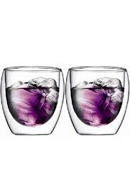double wall construction individual glasses mouth blown by expert artisans 250ml dishwasher safe style no 4558 10