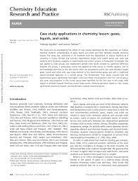This outline sample of a case study report should serve as a useful guide to help you get started. Pdf Case Study Applications In Chemistry Lesson Gases Liquids And Solids