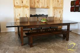 Farmhouse Dining Table Sets Farm Table Chairs Modern Barnwood Harvest Table With Bench From