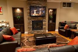family rooms decorations dark brown