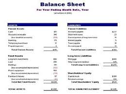 Balance Sheet Template Free Layout Format