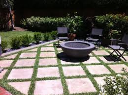 modern patio fire pit. Plain Patio Outdoor Fire Pit With ConcreteGrass Pavers Modernpatio On Modern Patio