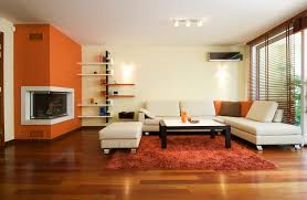 Living Room Corner Fireplace Decorating Interior Cool Modern Corner Fireplace And Nice Chair And Rug Also