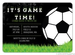 Soccer Party Invite Game Time Soccer Party Invitation