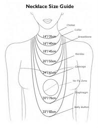 Necklace Length Chart The Long And Short Of It A Guide To Necklace Length Ann