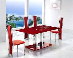 dining table with leather chairs glass dining table with red leather chairs round dining table and