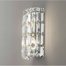wall sconce lighting ideas. Cascade 2 Light Chrome Finish With Clear Crystal Wall Sconce For Incredible Home Lighting Ideas E