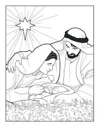 Coloring Pages Birth Of Jesus Coloring Page Had Righteous Earthly