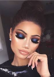pιnтereѕт jenιιмarιee blue makeup looks navy eye makeup navy blue dress