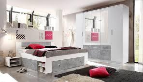 Schlafzimmer Komplett Set 4 Tlg Stefan Bett 180 Kleiderschrank Weiß