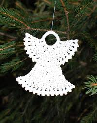 Crochet Decoration Patterns Crocheted Christmas Ornaments Petals To Picots