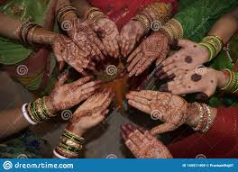 Indian Traditional Mehndi Design Hands Mehndi Design On Hands Stock Image Image Of Traditional