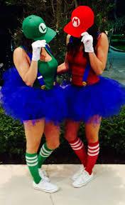 Marvelous Inspiration U0026 Accessories: DIY Super Mario U0026 Luigi Halloween Couple Costume  Idea