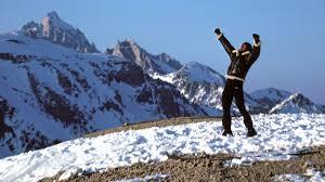 Rocky Balboa llegando a la cima de la Montaña