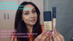 nars sheer glow foundation stromboli review indian olive tanned um skin tones raji osahn you