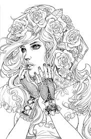 People Coloring Pages Free Page Girl
