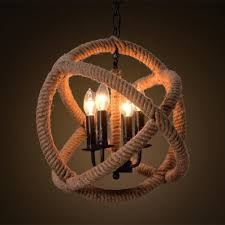 ms 07 nordic hemp rope chandelier retro rustic dangling lamp vintage restaurant coffee pendant light