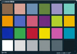 Color Calibration Chart Colorchecker X Rite With 24 Color Squares Used For Color
