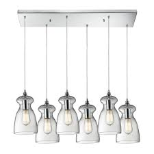 Multi Light Island Pendants Multi Light Pendant Light With Clear Glass And 6 Lights