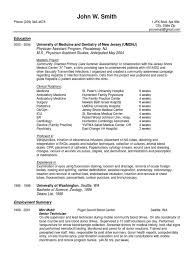 Physician Assistant New Graduate Sample Resume And Curriculum Vitae