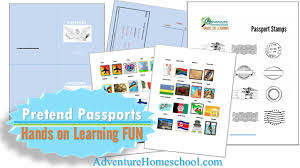 Free Passport Template For Kids Magnificent FREE Printable Passports Country Stamps