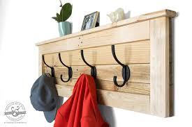 Reclaimed Wood Coat Rack Shelf Coat Hooks Reclaimed Wood Coat Rack Entryway Coat Hooks Pallet 43