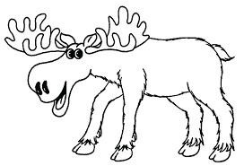 Coloring Pages Of Moose Muffin Coloring Pages Moose Coloring Page If