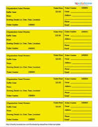 Benefit Ticket Template Free Ticket Template Lovetoknow