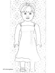 American Girl Coloring Pages To Print Girl Doll Coloring Pages Grace