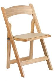 natural wooden folding chair profile